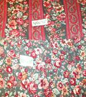 JOAN KESSLER  CONCORD rose cotton FABRIC 2 coordinating fabrics almost 4 YARDS