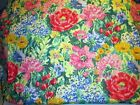 3 1/3 YDS BRIGHT SCREEN PRINT FLORAL FABRIC ~ BLOOMCRAFT ~ UPHOLSTERY  DRAPERY