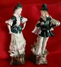 Vtg. Enseco man and woman Colonial dress dancing partners figurines