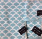 Cynthia Rowley Bath Towels Set (3 piece) Fan Pattern Blue / White New