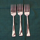 3 Oneida Wyndham Distinction Salad Fork USA Stainless Bright and Shiny!