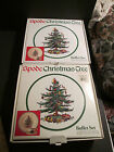 SERVICE FOR 2 SPODE CHRISTMAS TREE BUFFET SET DINNER PLATE CUP SAUCER NIB ENGAND