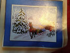 Artcrafts Concepts - Covered Bridge Crewel Embroidery Kit - Winter Scene