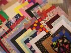 50 6 inch fabric squares blocks Group June1 Great for Scrapy Quilt Top