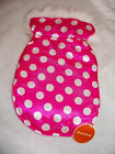 XSmall Pink Dot Reversible Toy Yorkie Chihuahua Poodle Clothes Jacket Coat