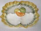 Vintage Los Angeles USA Potteries Divided Serving Platter Colorful Great Cond
