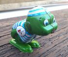 1960`s VINTAGE YONE TIN WIND UP JUMPING FROG JAPAN WORKING CONDITION