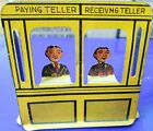 RARE 1920's MARX HOME TOWN TIN DOLL HOUSE FURNITURE SAVINGS BANK TELLERS BOOTH