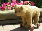 Antique Early German Steiff Teddy Bear on Wheels Pull Toy w Button