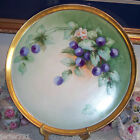 T&V Limoges Hand Painted Plums Charger Tray Plate platter 16