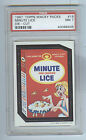 1967 Wacky Packages Minute Lice #19 PSA7 NM