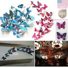 12pcs Art Decal Home Room Wall Stickers 3D Butterfly Sticker Decorations Decor #