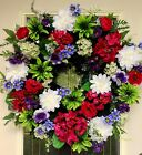 CLEARANCE $50 Last Chance Summer Floral Door WREATH DIVA