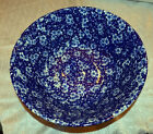 Burleigh Pottery - Calico Blue - Burleigh Blue Calico Chinese Bowl large
