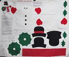 Jack Frost the Snowman Wall Door Hanging Fabric Panel Craft Sew Quilt