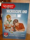 Vintage Gilbert Microscope and Lab Set in Metal Box Manual. Loaded with goodies