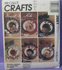 RETRO MCCALLS SEASONAL WREATHS MAKE 12 DIFFERENT WREATHES ONE BODY PATTERN 3881