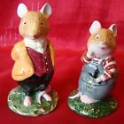 1982 - Royal Doulton - Brambly Hedge - Mice - Wilfred Toadflax & Lord Woodmouse