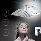 Brushed Nickel Shower Faucet 8 Inch Rainfall Shower Head with Handheld Spray