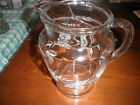 WATER PITCHER VINTAGE GLASS with ETCHING (It would be a great vase, as well)