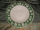 Sango Ivy Charm Green Large Rimmed Soup/Cereal Bowls - Quantity 3