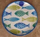 Cynthia Rowley Blue Fish MELAMINE Dinner Plates Green Set Of 4 Green Fish