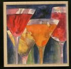 MIXED COCKTAILs wood mounted RUBBER STAMPs Happen MARTINI NEW USA made wine