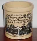 ANTIQUE ADVERTISING STONEWARE BUTTER CROCK, DAVIDSON, GREAT CONDITION!