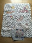 VTG Stamped Cross Stitch Baby Collection Snoopy's Dream Quilt PARTLY STITCHED