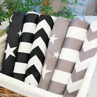 6 Pieces Bundle 100% Cotton Fabric Chevron Star Stripe 32