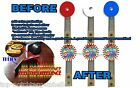 DELUXE CYCLONE Pinball Machine ModTarget Cushioned Decals +