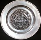 Wilton Columbia, PA Mystic Seaport Charles W.Morgan Whaling ship Armetale Plate