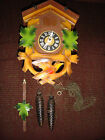 VTG BLACK FOREST 2 OPENINGS CUCKOO CLOCK FOR REFURB WEIGHTS CHAIN PENDULUM GERMN
