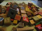 Vintage Wooden Blocks Toys Huge Lot Shapes Building Letters Animals Mickey Mouse