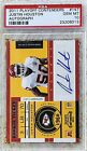 2011 PLAYOFF CONTENDERS AUTO JUSTIN HOUSTON RC PSA 10..POP 3 WE OWN 2..REGISTRY