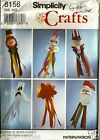 VTG Simplicity Craft Pattern 8156 Holiday Windsocks Wendy Everett 6 Styles Uncut