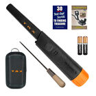 Whites Bullseye TRX Pinpointer Pin Pointer with Holster and 8 Inch Coin Probe