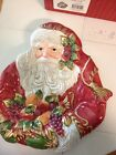 Fitz and Floyd Classics Winter Holiday Santa Christmas Plate