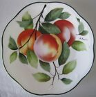 Vintage ROYAL VIENNA Hand Painted PEACHES Porcelain PLATE Signed P. Dauphin 8.5