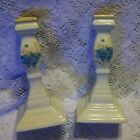 SET OF 2 MIKASA GARDEN CLUB  DAY DREAMS  CANDLE HOLDERS JAPAN