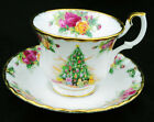 ROYAL ALBERT CHRISTMAS MAGIC CELEBRATION OLD COUNTRY ROSES TEA CUP AND SAUCER