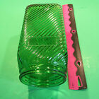Green DEPRESSION GLASS RIBBED KITCHEN Canister 1940's VINTAGE