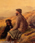Hand-painted Portrait Oil Painting Decor Art on Canvas,HUNTERS WITH DOGS 24