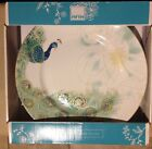 222 Fifth LAKSHMI PEACOCK Dinner Plates Set Of 4 Dinnerware
