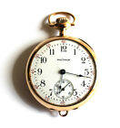 Antique Ladys Pendant 14K Solid Gold Case Pocket Watch by Waltham Circa 1910