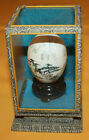 Vintage Hand Painted Real Egg in Chinese Display Case.