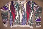 RARE VINTAGE COOGI SWEATER MENS 100% MERCERISED COTTON COSBY LARGE KNIT L BRIGHT