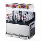 Commercial 3 Tank Frozen Drink Slush Slushy Making Machine Smoothie Maker