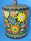 vintage tin embossed floral tin made in holland