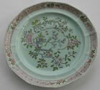 Antique Adams England Calyx Ware Singapore Bird Blue Platter Charger Large Plate